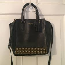 Coach Mini tanner black studded legacy purse