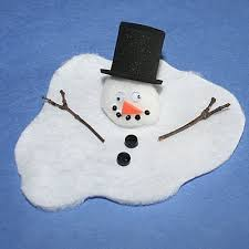 ... time I see this melted snowman Christmas craft from ehow Mom. Use a  small painted rock for the head. This is a really cute, fun craft for  preschoolers.