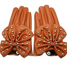 <b>Women</b> Lady <b>Rivets</b> Butterfly Soft Faux <b>Leather Gloves</b>: Amazon.co ...