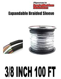 amazon com black 3 8 100ft braided expandable flex sleeve wiring black 3 8 100ft braided expandable flex sleeve wiring harness loom wire cover