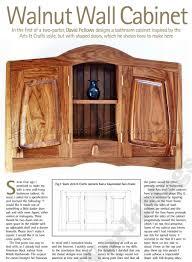 Bathroom Wall Cabinet Plans Walnut Wall Cabinet Plans O Woodarchivist