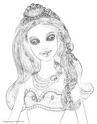 Small Picture Barbie The Pearl Princess COLORING PAGES