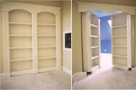 Secret double bookshelf doors swing inward to reveal hidden room - These  work great together and