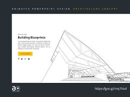 Architectural Powerpoint Template Arc Animated Presentation Template Building Blueprints By