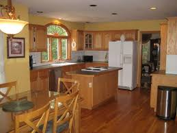 kitchen cabinet stains taupe paint color walls scheme added grey granite countertop gray pallet wall paint