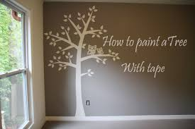 Small Picture How to paint tree on wall 4 baby room Easy tape paper only