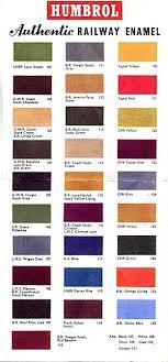 Humbrol Paint Chart Uk Kitmaster Range