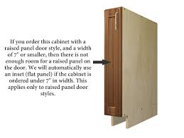 standard 1 4 thick back panel like other standard cabinets so this will change the way you assemble this cabinet please see the pictures below as the
