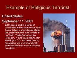 religious extremism 5 example of religious