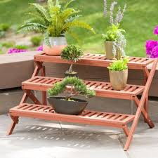 Amazing wooden garden planters ideas try Should Try Quickview Wayfair Outdoor Planter Stands Youll Love Wayfair