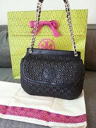 TORI BURCH collection on eBay! & TORY BURCH MARION QUILTED SADDLE BAG NEW $525+tax Adamdwight.com
