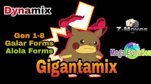 Pokemon Saffron, With Gigantamax, Mega Evolution, Dynamax, Galar Forms, Z- Move, Alola Form🔥