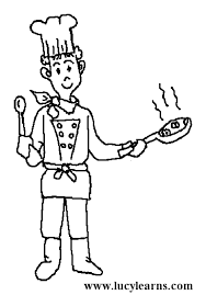 Small Picture Chef Coloring Page GetColoringPagescom