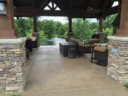 Stained concrete patio Backyard Stained Concrete Patio Chicago Chicago Concrete Resurfacing Stained Concrete Projects