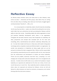 reflective essay on new perspectives on leadership  2 new perspectives on leadership ibus6007 assignment b reflective essay