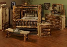 Log Bedroom Furniture Beartooth Pass Rustic Aspen Canopy Bed Rustic Aspen Log