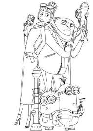 Small Picture Printable Despicable Me Coloring Pages Coloring Me
