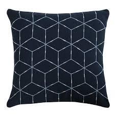 <b>Подушка декоративная Ethnic</b> из хлопка темно-синего цвета с ...