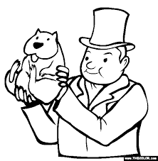 Small Picture Holding Groundhog Coloring Page Punxsutawney Phil