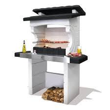 Barbecue En B Ton Gris Et Noir Kos L 125 X L 72 X H 161 Cm