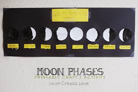 Phases Of The Moon Chart For Kids Printable Moon Phase Craft Activity Learncreatelove