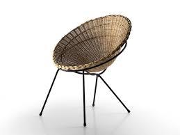 round wicker chair 3d model max obj c4d 1