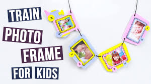 diy train photo frame for kids