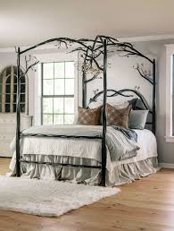 Elm Springs Wrought Iron Canopy Bed | Iron Beds by Urban Forge
