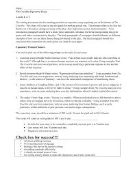 Essay Assignment Examples Crucible Essay Assignment
