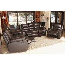 verona top grain leather reclining sofa loveseat and chair set sam s club