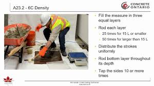 Csa Concrete Mix Design Csa A23 2 19 6c Density And Yield Of Plastic Concrete