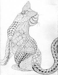 Small Picture Geometric Cat Coloring Pages Coloring Pages