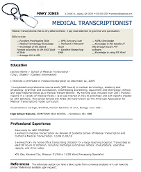 Gallery Of Medical Transcriptionist Resume Example Resumes Design