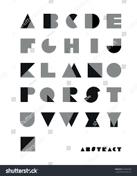 Abstract Font From Geometrical Figures Abstract Fonts