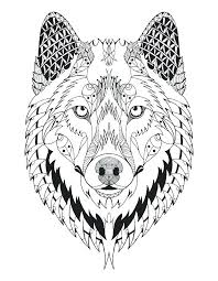 Adult Wolf Coloring Pages At Getdrawingscom Free For Personal Use