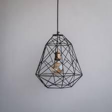 scandinavian lighting. Scandinavian Design Trend - Geometric Industrial Decor Pendant Cage Lamp The Black Steel Lighting E