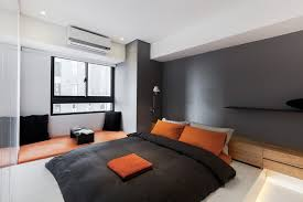 Delighful Black And Orange Bedroom Your Home Improvements