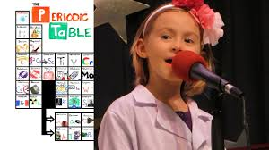 6yo sings the new periodic table song in order at talent 6yo sings the