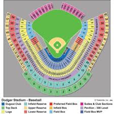 Time Warner Music Pavilion Seating Chart Breakdown Of The Dodger Stadium Seating Chart Los Angeles