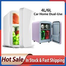 Tủ Lạnh Mini Nhỏ 12V Tủ Lạnh 220V Cửa Đơn Xe Nhà Kép Nhiệt Điện Tủ Lạnh  Mini Mát ấm Tủ lạnh