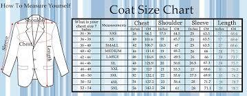 Suit Jacket Size Chart 36 Efficient Jacket Size Chart For Men