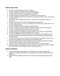 Good Resume Objectives Samples 22 Sample Of Objective In Put .