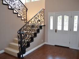 ... Stairs, Enchanting Rod Iron Stair Railing Wrought Iron Indoor Railing  Black Iron Stair Railing: ...