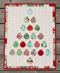 """Quilt Inspiration: Free pattern day: Christmas quilts (part 1): Trees! & Tole Christmas quilt, 56 x 64"""", free pattern by Oda May for Moda Bakeshop Adamdwight.com"""