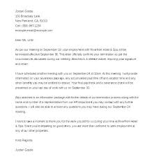 Example Letter Of Termination Termination Paperwork Template Layoff Letter Termination
