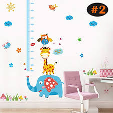Kindergarten Height Chart Children Growth Chart Height Measure Wall Sticker Floor88