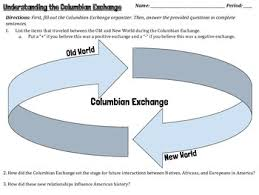Columbian Exchange Homework Worksheets Teachers Pay Teachers
