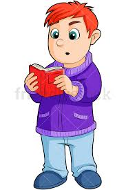 little boy reading literature png jpg and vector eps infinitely scalable