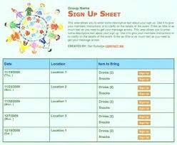 School Class Church Kids Children Volunteer Sign Up Printable Talent