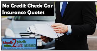 auto insurance with no credit check with affordable monthly rates